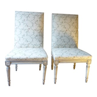 A Pair of 18th C. Swedish Side Chairs