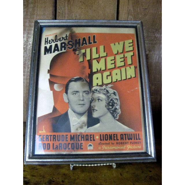 "Vintage Original Movie Poster ""Till We Meet Again"" Circa 1936 - Image 2 of 5"