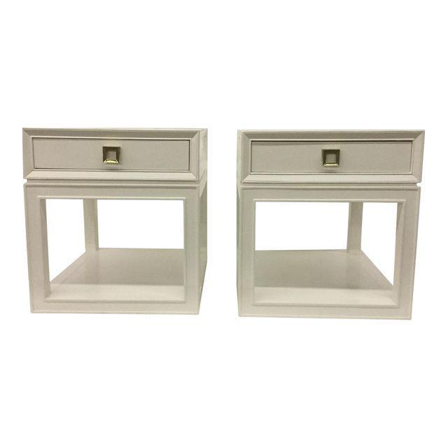 """Malibu Loft"" Single Drawer White Side Table - Image 4 of 6"