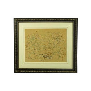 Early 20th Century May Belle Broadhead Folk Art Drawing