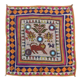 Vintage Beaded Indian Tribal Wall Hanging