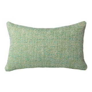 Mid-Century Modern Lux Blue/Green Bolster Pillow