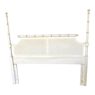 Mid-Century Caned Queen Headboard