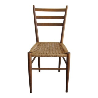 Gio Ponti Style Ladder Back Chair