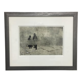 Original Charcoal Drawing Painting