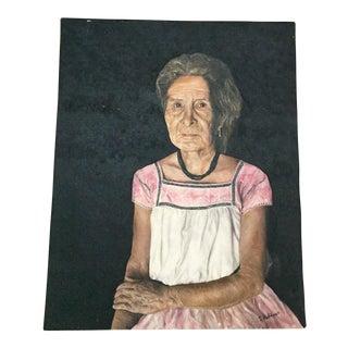 Hispanic Woman Portrait Oil Painting
