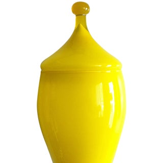 Bright Yellow Cased Empoli Jar
