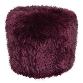 New Plum Colored Poof