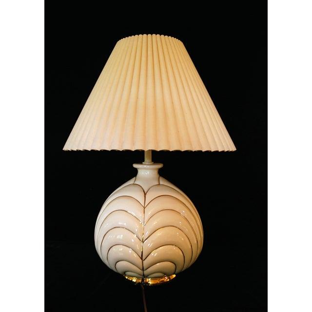 Vintage Modern Porcelain & Gold Table Lamp - Image 2 of 4