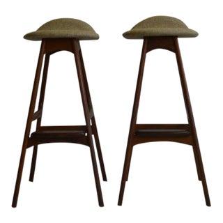 Eric Buch Teak Bar Stools - A Pair