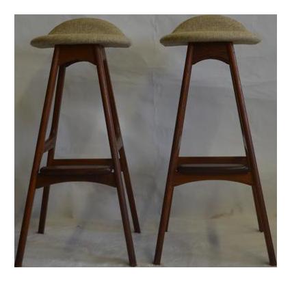 eric buch teak bar stools a pair