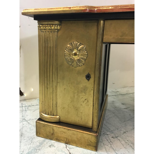 French Neo-Classical Style Gold Leaf Desk - Image 3 of 10
