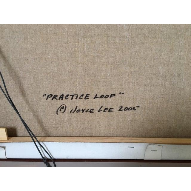"""Montana Artist Joyce Lee """"Practice Loop"""" Original Painting - Image 8 of 9"""