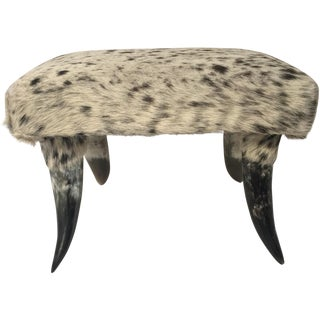 New Mexican Cowhide Ottoman