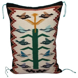 Navajo Weaving Tree of Life Pillow
