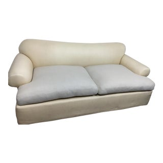 Kreiss Ivory Contemporary Sofa