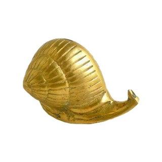 Vintage Brass Snail