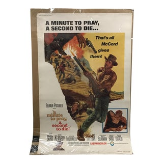 "Selmur Pictures ""A Minute to Pray, a Second to Die"" Vintage Movie Poster"
