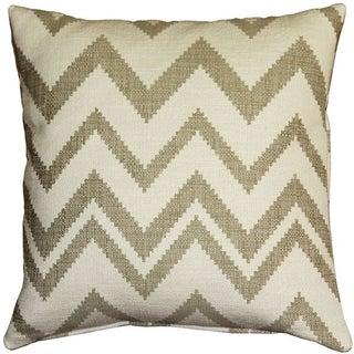 Pillow Decor - Lorenzo Zigzag Cream 20x20 Pillow