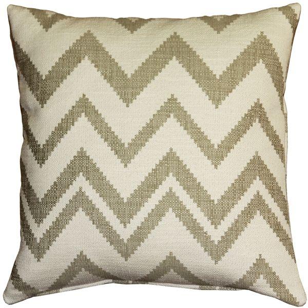 Image of Pillow Decor - Lorenzo Zigzag Cream 20x20 Pillow