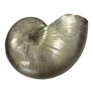 Maitland - Smith Cast Pewter Nautilus Shell