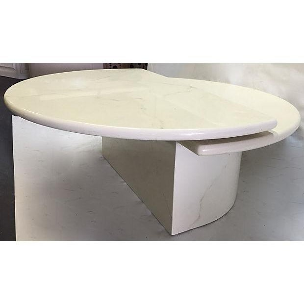 Marble Coffee Table Heavy: Lacquered Faux Marble Coffee Table
