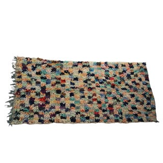 Vintage Boucherouite Carpet - 3′6″ × 6′8″