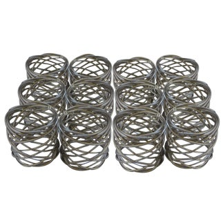 Vintage Bird's Nest Napkin Rings - Set of 12