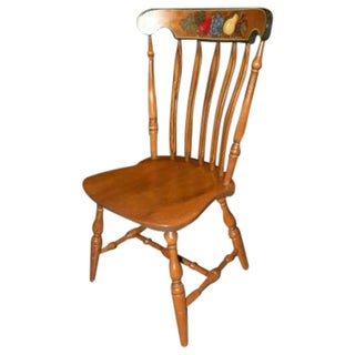 Vintage S Bent Bros Stenciled Maple Side Chair
