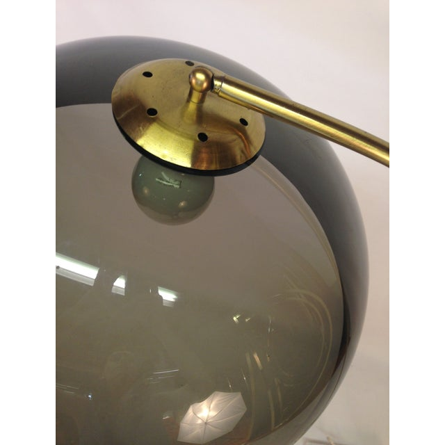 Image of Mid-Century Modern Marble & Brass Arc Lamp