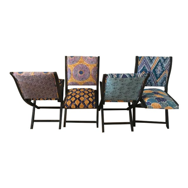 Anthropologie Terai Folding Chairs Set Of 4 Chairish