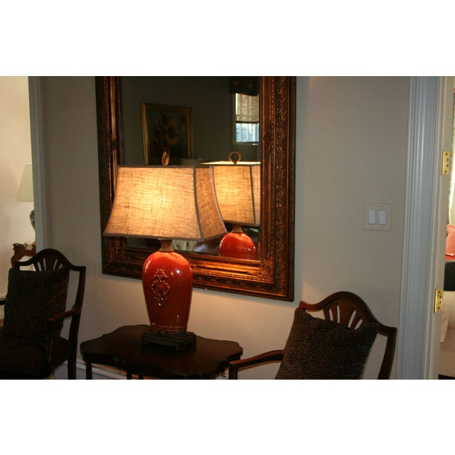 Large Tuscan Red Table Lamp - Image 3 of 10