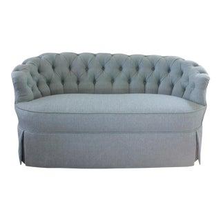 Vintage Blue Tufted Sofa