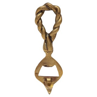 Brass Twisted Rope Bottle Opener