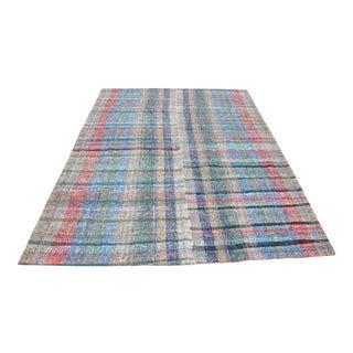 Bohemian Turkish Decorative Kilim Rug - 6′3″ × 9′