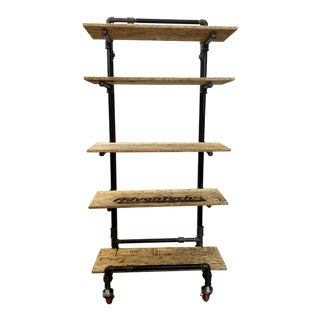 Adjustable Black Pipe Shelf Unit