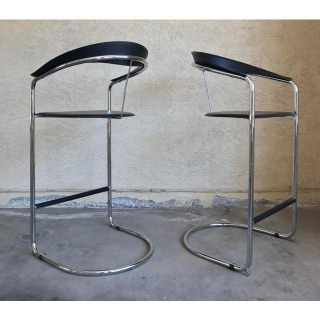 Image of Anton Lorenz for Thonet Modern Bar Stools - A Pair