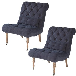 Sarreid Ltd. Boudoir Midnight Chair - A Pair