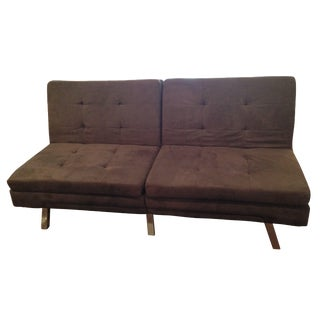 Contemporary Microsuede Sofa Bed