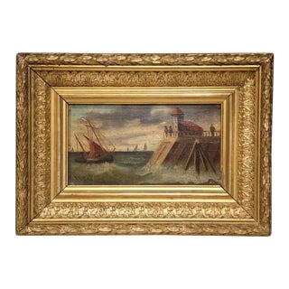 19th Century French Oil on Board in Gilt Frames, Signed Noel - A Pair