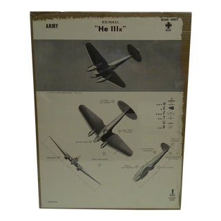 WWII Heinkel He 111k Aircraft Recognition Poster