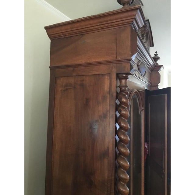 Rococo Revival Style Mahogany Mirrored Armoire - Image 4 of 10