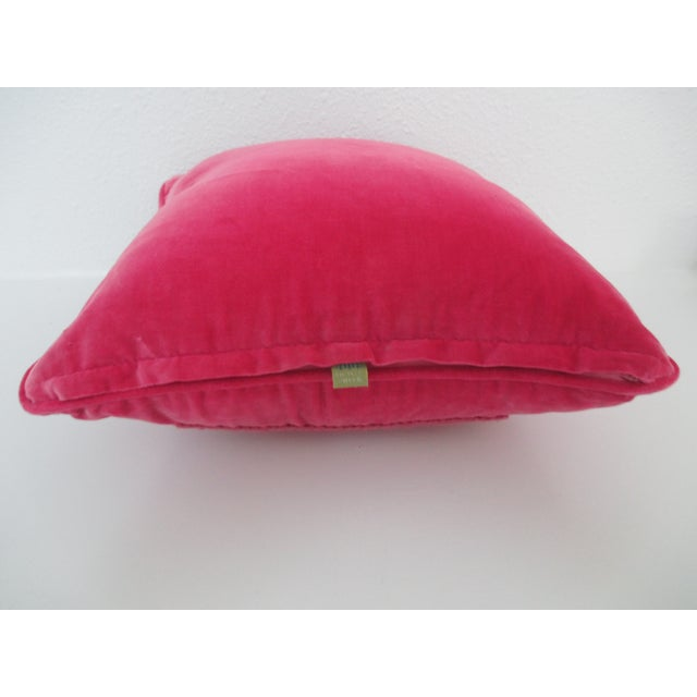 Image of Fuchsia Velvet Vintage Pillow by Nettle Creek