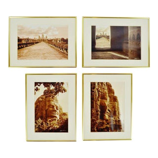 Thierry Diwo Framed Cambodian Photography Art - Set of 4