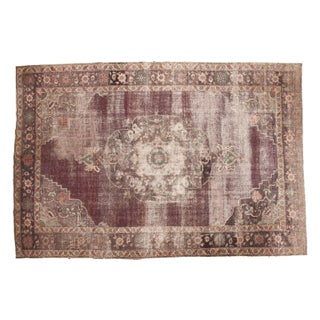 "Distressed Vintage Oushak Carpet - 8'2"" x 12'2"""