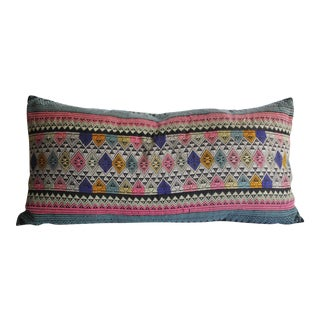 Vintage Laos Textile Pillow