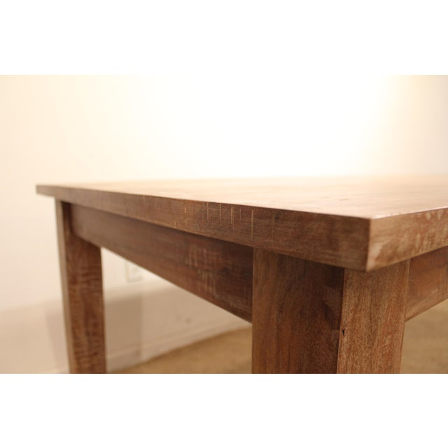 "French Country Farm Rustic Dining Table 90"" Long - Image 9 of 11"