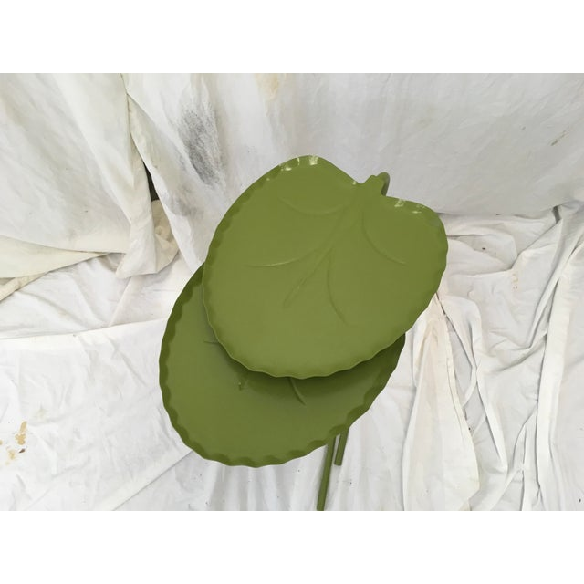Salterini Green Lily Pad Tables, S/2 - Image 3 of 10