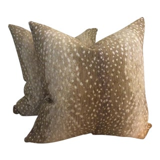 Lee Industries Antelope Print Pillows - A Pair