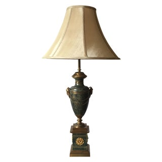Brass Neoclassical Greek Key Table Lamp